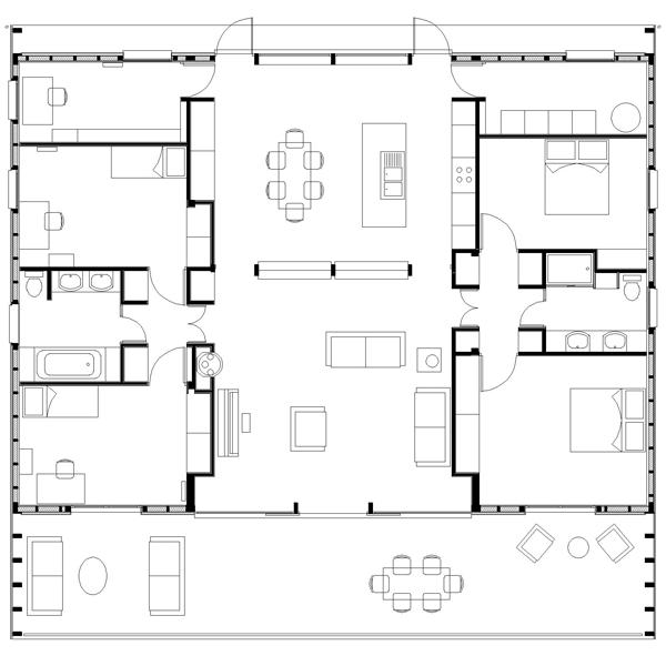 Quintet for Plan d une maison marocaine